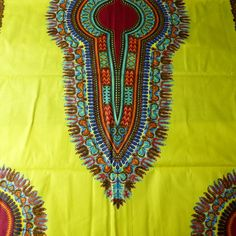 P1500384 Dressmaking Fabric, African Fabric, Crafty Projects, Create Yourself, Cotton Fabric, Art Pieces, Wax, Sewing, Yellow