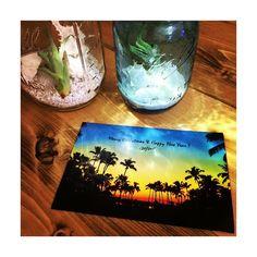 wtwからのgreeting card いちいち可愛い♡♡♡ #wtw #sandyjar #masonjar #palmtree #beach