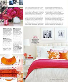 Au Lit Fine Linens featured in Style At Home - June 2012 Issue | Designer Jessica Waks, Photography Virginia MacDonald, Text Laura Decarufel.