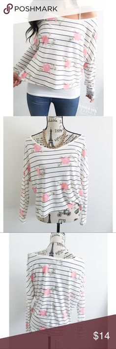 """<<SOLD //NOT FOR SALE>> ✦ this top has a fabric that has a breathable feel for Spring & Summer. It has a wide neckline & dolman sleeves✦{I am not a pro photographer, actual color of item may vary ➾slightly from pics}  ❥chest:24.5"""" ❥waist:23"""" ❥length:21""""/22"""" longer in back  ❥sleeves:25.5 shoulder to collar ➳material/care:polyester+viscose/machine wash  ➳fit:in my opinion it might work for med large too ➳condition:good/gently used  ✦20% off bundles of 3/more items ✦No Trades  ✦NO HOLDS ✦No…"""