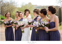 Bridesmaids at Troon North wedding in Scottsdale, Arizona