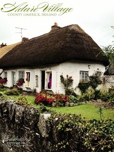 Thatched cottage in Adare village - about 25 mins. Description from pinterest.com. I searched for this on bing.com/images