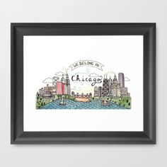 We Belong in Chicago Framed Art Print
