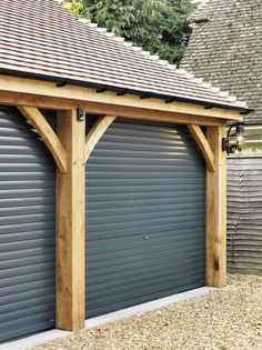 Double Garage with stores - Ascot Timber Buildings - Stables, Garages & Bespoke Wooden Builds