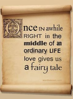 When will I get my fairy tale?