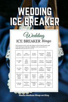 Bridal Shower Ice Breaker Game Navy Wedding Human Bingo Cards image 3 Bingo Cards, Printable Cards, Party Printables, Ice Breaker Bingo, Human Bingo, Wedding Party Games, Engagement Party Decorations, Ice Breakers, Speed Dating