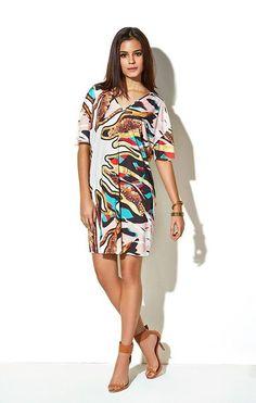 Amei. Quem gostou ?   Vestido T-Shirt Estampado  COMPRE AQUI!  http://imaginariodamulher.com.br/look/?go=2cpQqn6