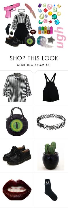 """""""girl gang"""" by sydnij25 ❤ liked on Polyvore featuring Relaxfeel, American Apparel, Kreepsville 666, WithChic, Manic Panic NYC and Hello Kitty"""