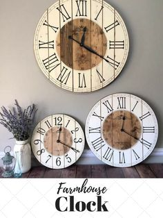 This Clock Will Add The Perfect Rustic Touch To Your Home And Or Office.  This