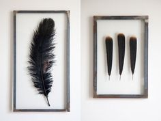 Stylistens 6 geniale tricks til ophængning af billeder Cool Ideas, Creative Ideas, Do It Yourself Projects, Diy Projects To Try, Decorating Your Home, Diy Home Decor, Feather Crafts, Black Feathers, Diy Interior