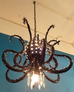 OMG :Adam Wallacavage, Octopus Chandelier... for my craft room or maybe the pub/game room.