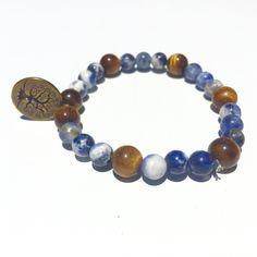 Unisex Semi-Precious Bead Bracelet