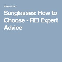 Sunglasses How to Choose - REI Expert Advice  sc 1 st  Pinterest & The Best Way to Heat a Tent | Tents Camping and Camp trailers