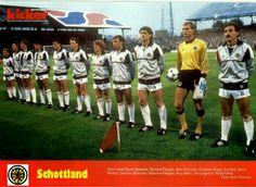Scotland team line up in 1985.