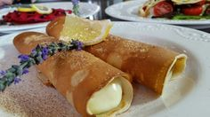 Milktart- filled pancakes !