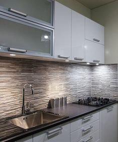 The kitchen includes a gas cooktop with extractor fan, plentiful storage space, and soft close cabinet doors. Small House Kitchen Ideas, Kitchen Room Design, Home Room Design, Kitchen Sets, Home Decor Kitchen, Interior Design Kitchen, Home Kitchens, Kitchen Designs, Cute Small Houses