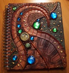 Turtle shell sketchbook cover by MandarinMoon on DeviantArt
