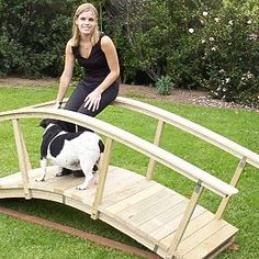 Arched garden bridge tutorial. Just use reclaimed wood!