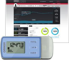 The Omron HJ322U Downloadable TriAxis Activity Monitor #Pedometer will keep your engaged to reach your fitness goals. Stay motivated as you track your activity, see trends and do your best to succeed! $30.00 http://www.pedometersusa.com/omron-hj322u.html