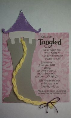 Tangled invite macon-s-fifth-birthday