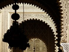 Casablanca, Morocco - France's first Resident General of Morocco, Marshal Hubert Lyautey, made this opulent palace his Casablanca home in 1912. Today it is used for administrative purposes, its faded elegance reflected in its ornate arches and doors. This image was made in the palace's interior courtyard.  Image © Phil Douglis
