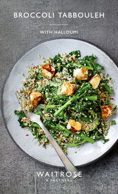 Prepared in just 10 minutes, this salad combines crunchy tenderstem broccoli with couscous, topped with salty feta. Tap for the full Waitrose & Partners recipe. Fun Easy Recipes, Raw Food Recipes, Veggie Recipes, Salad Recipes, Vegetarian Recipes, Cooking Recipes, Vegetarian Options, Healthy Recipes, Waitrose Food