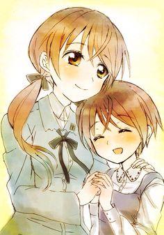 Anime / Manga Vintage Family Sisters