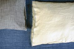 Linen Selvage Pillowcases: an easy-sew project from A Year Between Friends: 3191 Miles Apart