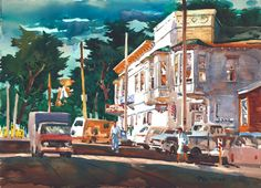 Lansing Street - Don O'Neill Watercolor