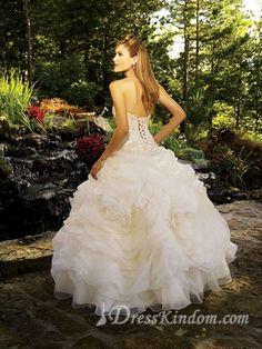 Luxurious Strapless Floor-length Organza Quinceanera Dresses [10106067] - US$213.99 : DressKindom