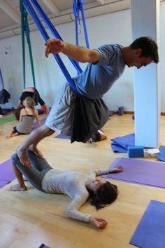 6eaf896b3fcf 11 Best Aerial-partner images in 2018   Aerial yoga, Yoga, Partner yoga