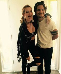 With his girlfriend Bella Thorne...