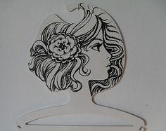 Vintage Ladies Head Face Clothing Hanger Store Display, Boutique or Home Décor West Germany