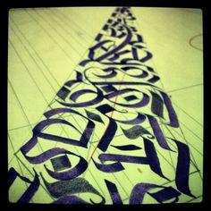 #caligrafia #calligraphy #letters #lettering #handmadeletters #handmadefont #type #tipography #parallelpen #art