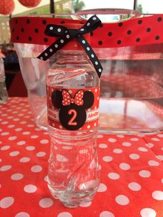 #minniemouse #party #waterbottle sh diseño