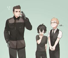 Young Gladio, Noctis, and Ignis
