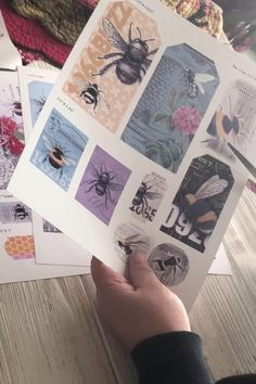 Free Printable Bee Ephemera! (Okay for commercial products)