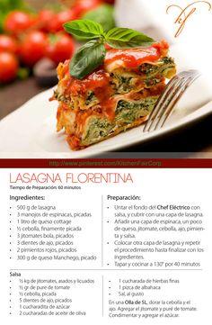 Lasagna Florentina Tiempo de Preparación: 60 minutos