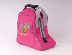 HORSE or PONY CLUB PINK PERSONALISED  EQUESTRIAN STABLES, DRAWSTRINGTACK BAG