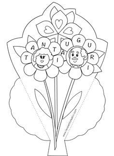 Biglietti di auguri per la Festa dei nonni con fiori All Kids, Grandparents, Easter, Disney, Grandparents Day, Geography, Grandmothers, Easter Activities, Disney Art