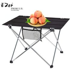 Wallmart.win Outdoor Camping Table with Aluminium Alloy Picnic Table Waterproof Ultra-light Durable Folding Table Desk For Picnic& Camping