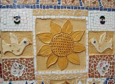 Ceramic Mosaic Tiles for Crafts | Garden Mosaic With Broken Tiles, Stones and Ceramic Shapes