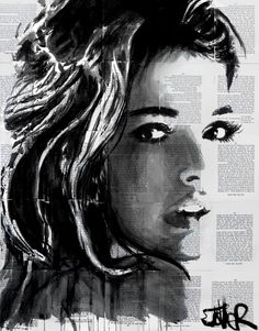 "Saatchi Art Artist Loui Jover; Drawing, ""flicka"" #art"