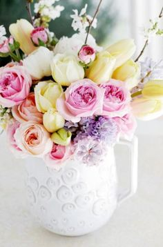 spring Easter bouquet #flowers #floral