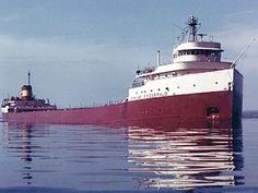 The legend of the Edmund Fitzgerald remains the most mysterious and controversial of all shipwreck tales heard around the Great Lakes. Page includes info about the Edmund Fitzgerald Edmund Fitzgerald, The Fitz, Great Lakes Ships, Upper Peninsula, Lake Michigan, Marquette Michigan, Wisconsin, Michigan Facts, Detroit Michigan