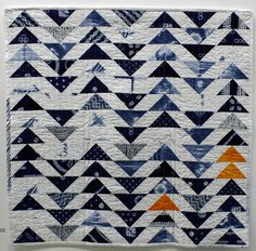 Flying Geese by Sarah Hibbert.  Coming Home exhibition, 2014, London (UK) Quilters Guild.