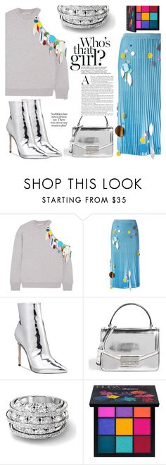 """silver/color pop"" by nasmejme ❤ liked on Polyvore featuring Christopher Kane, ALDO, Tory Burch, Huda Beauty, Silver, colorpop and polyvorefashion"