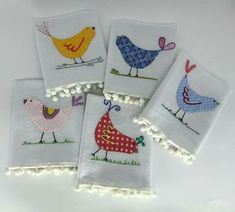 Dish Towels, Hand Towels, Tea Towels, Embroidery Patterns, Hand Embroidery, Quilting, Craft Night, Kitchen Towels, Craft Fairs
