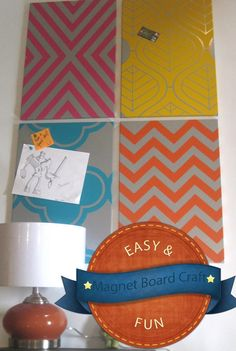 Dress up your boring magnet boards from ikea with decals from www.tradingphrases.com easy & awesome!