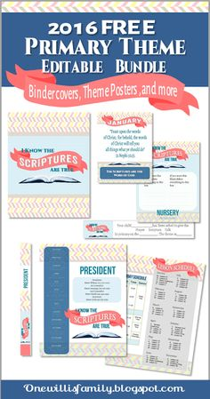 2016 Primary Theme Pack